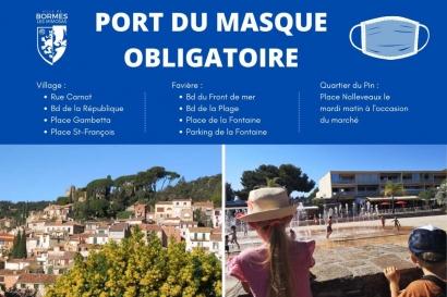 Sainte-Maxime, Bormes et Le Lavandou imposent à leur tour le port du masque en exterieur