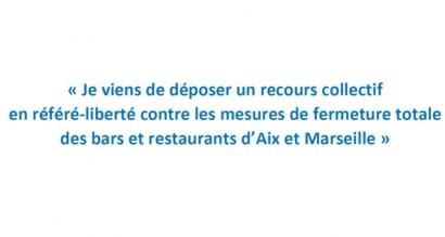 Fermeture des bars et restaurants à Marseille et Aix : Renaud Muselier a déposé un recours collectif en référé liberté
