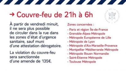 Coronavirus: Les modalités d'application du couvre-feu dans la Métropole Aix Marseillle
