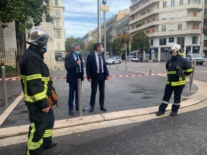 Attaque au couteau près de l'Eglise Notre-Dame à Nice, la piste de l'attentat terroriste évoquée