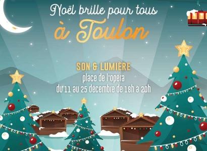 La magie de Noël en son et en lumière sur la façade de l'Opéra de Toulon
