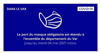 Le port du masque est désormais obligatoire dans tout le Var