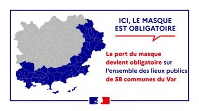 Voici la liste des 58 communes où le port du masque redevient obligatoire