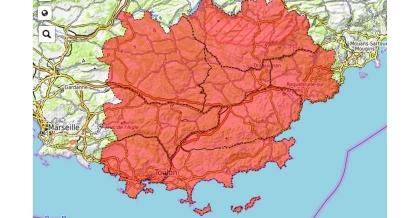 Suite à l'incendie des Maures tous les massifs du Var restent interdits ce mercredi