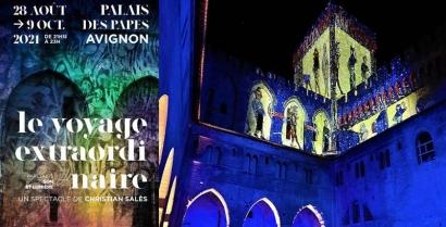 Le Voyage extraordinaire - Nouveau son et lumière au Palais des Papes