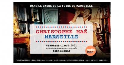 Christophe Maé en concert à la foire de Marseille