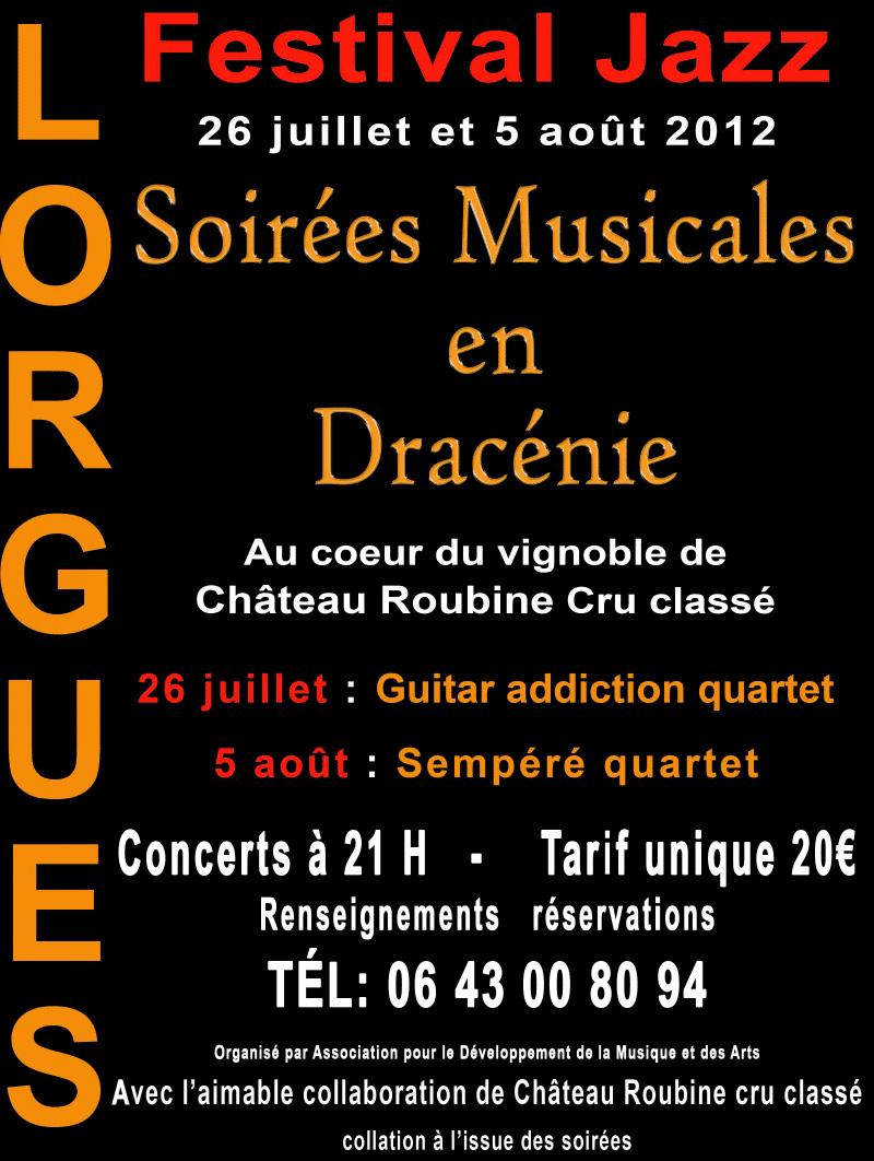 Soir�es Musicales en Drac�nie