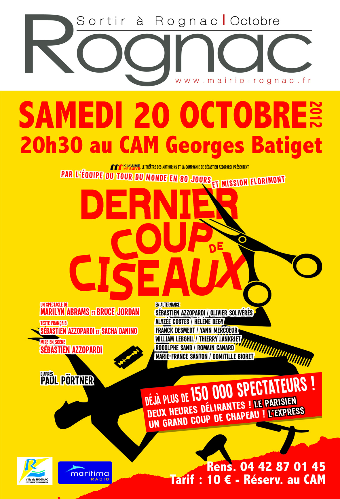 Dernier coup de ciseaux 20 10 2012 rognac frequence - Piece de theatre dernier coup de ciseaux ...