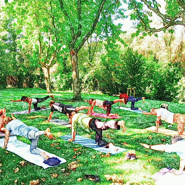 Cours de yoga dynamique vinyasa en plein air au parc - Parc jourdan aix en provence ...