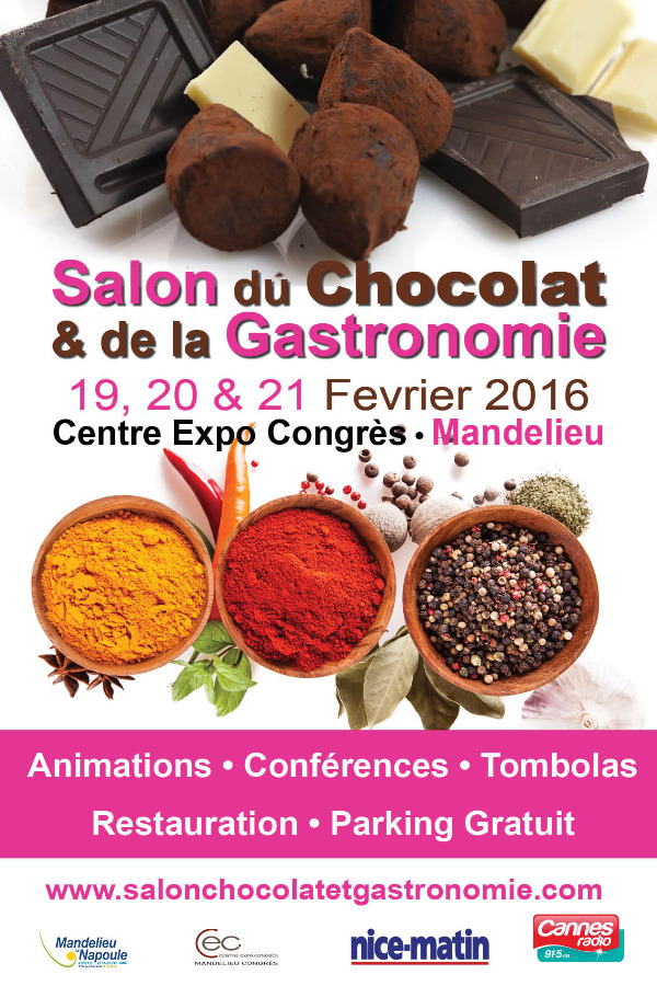 salon du chocolat de la gastronomie mandelieu du 19 02 2016 au 21 02 2016 mandelieu la. Black Bedroom Furniture Sets. Home Design Ideas