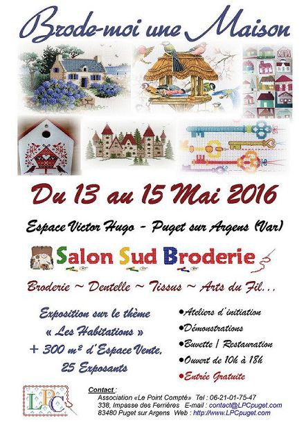 Salon sud broderie 2016 du 13 05 2016 au 15 05 2016 for Salon du sud