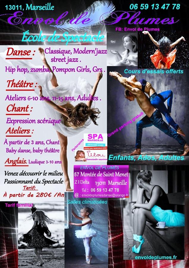 Danse chant th tre zumba hip hop pompom girls grs for Danse de salon marseille