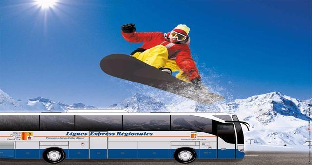 Pour partir au ski, pensez aux navettes blanches LER