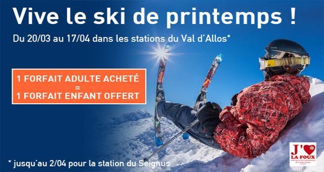 Le ski de printemps au Val d'Allos