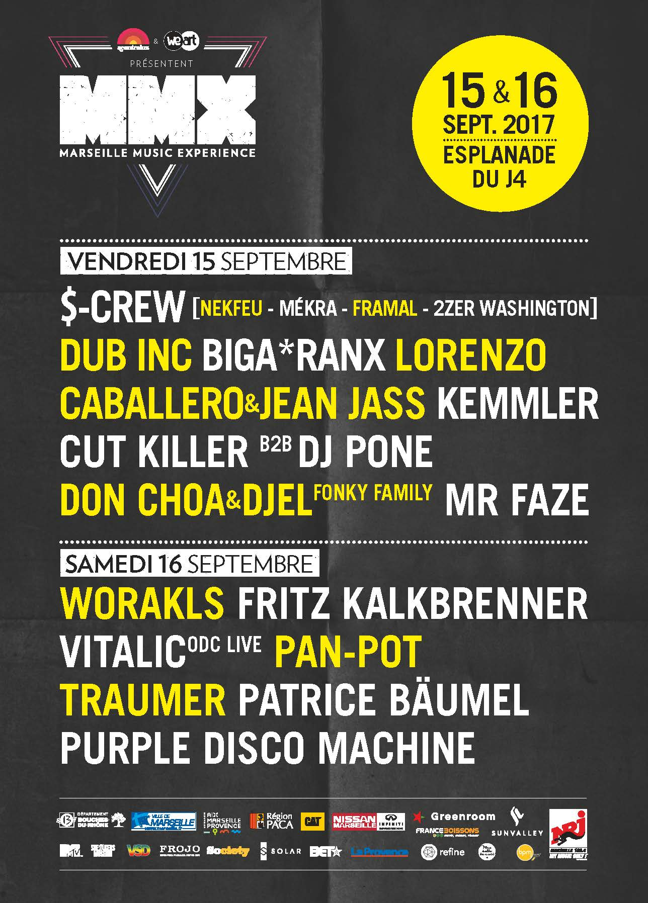 On connait la line-up du festival Marseille Music Experience