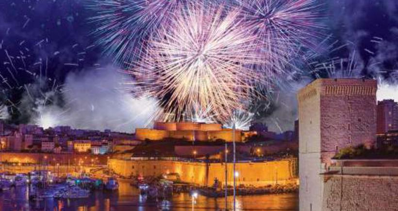 Le feu d'artifice du 15 juillet � Marseille