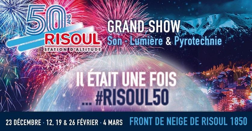 Grand show son, lumi�re et pyrotechnie pour les 50 ans de Risoul !