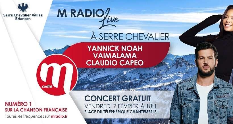 Yannick Noah, Claudio Capeo et Vaimalama en concert gratuit � Serre Chevalier !