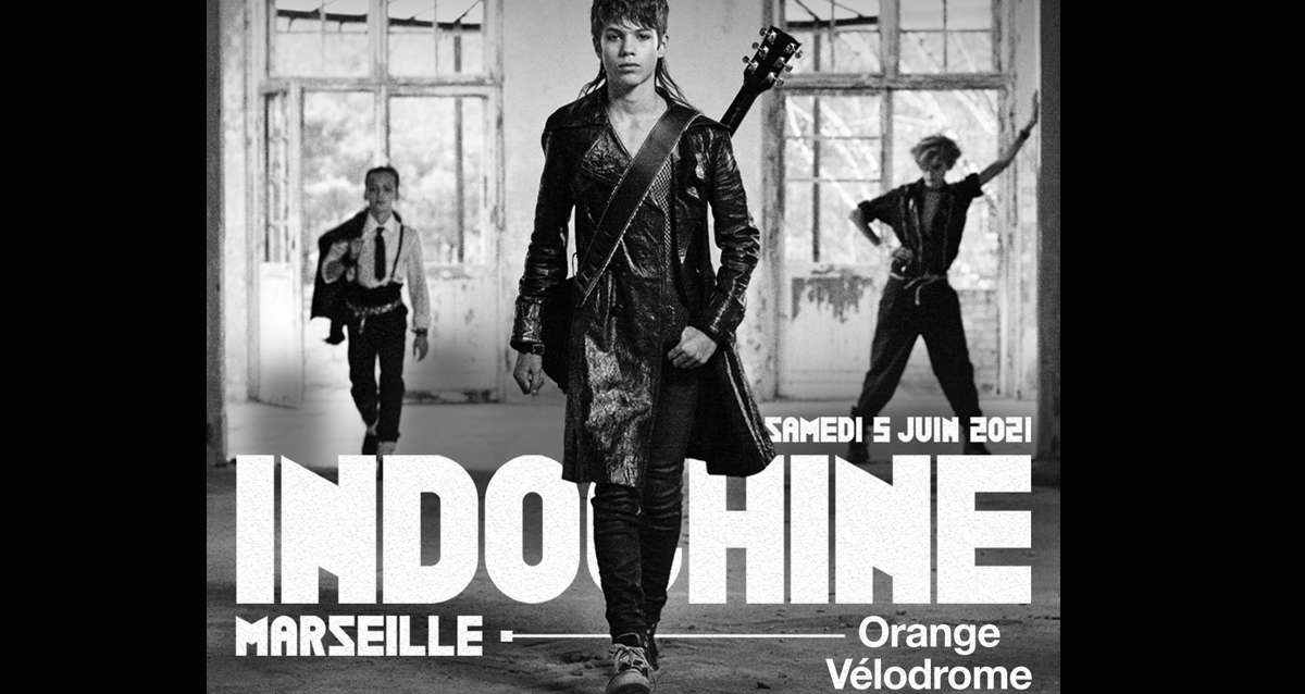 Indochine à l'Orange Vélodrome en juin 2021