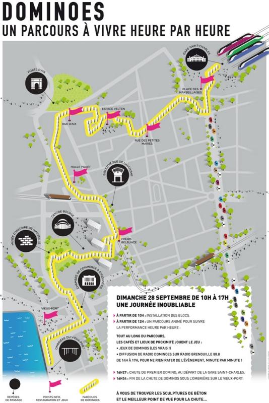 Insolite une ligne de dominos de 2 kms traversera - Distance gare st charles vieux port marseille ...