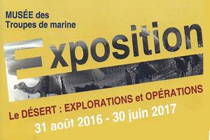 Exposition le désert : explorations et opérations