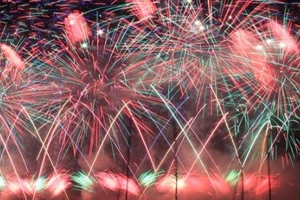 Les feux d'artifice � Hy�res